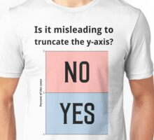 Is it misleading to truncate the y-axis? Funny Chart Unisex T-Shirt