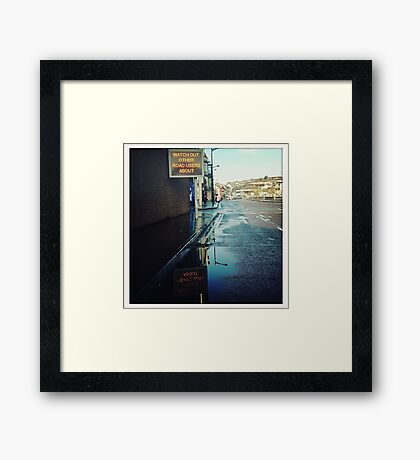 Watch Out! Framed Print