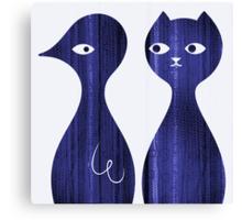 Cat and Bird Canvas Print