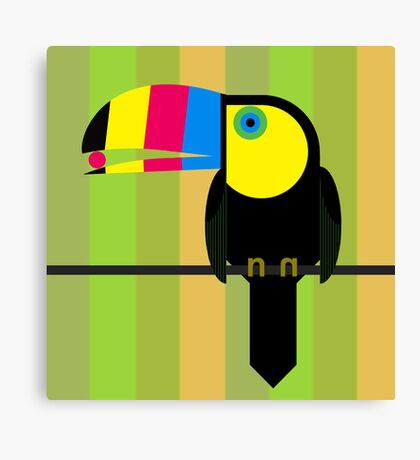 CMYK Toucan Canvas Print