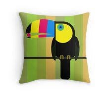 CMYK Toucan Throw Pillow