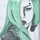 Lady Gaga Teal by HarrietHerbert