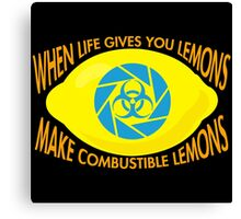 Combustible Lemons Canvas Print