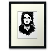 DARK COMEDIANS: Bill Hader Framed Print