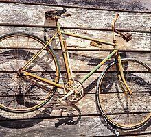 Old Bike On Display by Ann Barnes