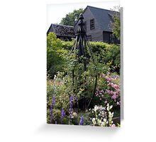 House of Seven Gables Garden Greeting Card