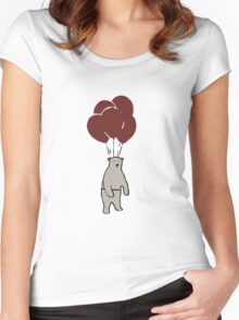 Floating Polar Bear Women's Fitted Scoop T-Shirt