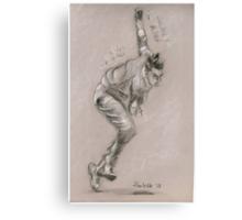 Dale Steyn - original pastel drawing Canvas Print