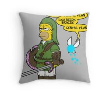 The legend of Zel- er... D'OH! Throw Pillow