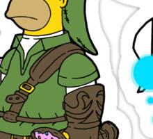 The legend of Zel- er... D'OH! Sticker
