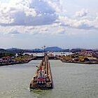 Pedro Miguel Locks, Panama Canal 2 by Kurt  Van Wagner