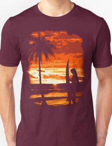 Beach Surfer Babe T-Shirt
