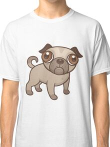 Pug Puppy Cartoon Classic T-Shirt