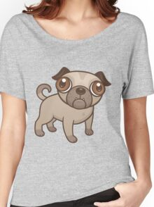 Pug Puppy Cartoon Women's Relaxed Fit T-Shirt