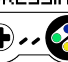 Learning by pressing random buttons . Sticker