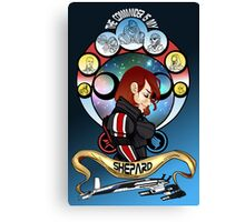 The Commander is my Shepard (RED HEAD EDITION) Canvas Print