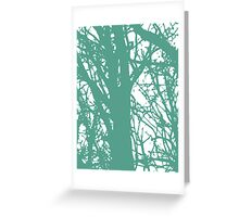 Blue and Green World Greeting Card