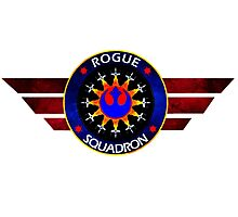 Rebel Alliance Rogue Squadron Logo Photographic Print