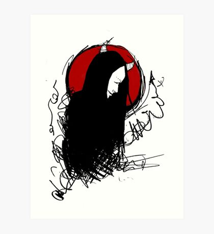 Demon (Bloodmoon) Art Print
