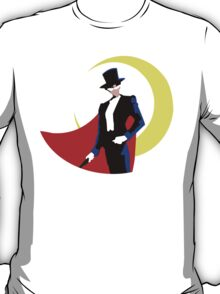 Tuxedo Mask on White T-Shirt