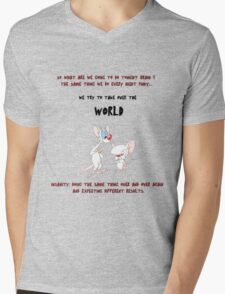 pinky and the brain insanity  Mens V-Neck T-Shirt