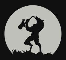 Werewolf Sax Solo funny nerd geek geeky by yudyud1991