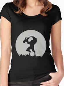 Werewolf Sax Solo funny nerd geek geeky Women's Fitted Scoop T-Shirt