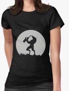 Werewolf Sax Solo funny nerd geek geeky Womens Fitted T-Shirt