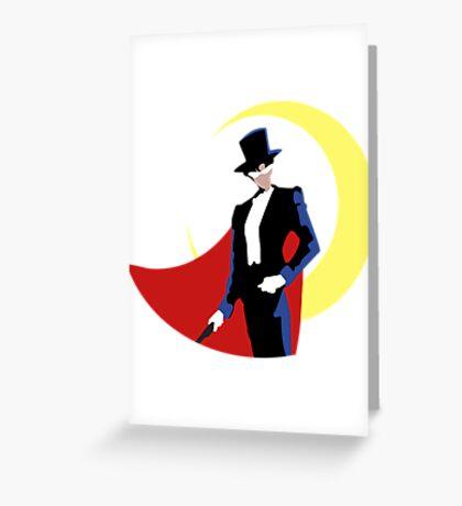 Tuxedo Mask on White Greeting Card