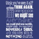 Doctor Who Inspired - Never Be the Same Again Quote by traciv