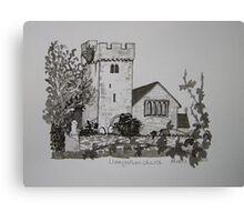 Pen and Ink-Llangathen Church-02 Canvas Print