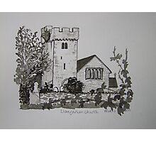 Pen and Ink-Llangathen Church-02 Photographic Print