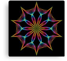 Color Rainbow Wing Kaleidoscope 001 Canvas Print