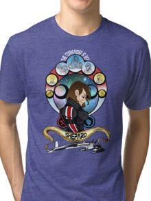 The Commander is my Shepard (BRUNETTE EDITION) Tri-blend T-Shirt