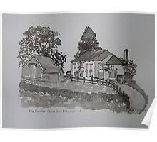 Pen and Ink-The Golden Grove Inn-Llanarthne-01 Poster
