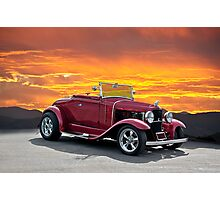 1930 Model A Ford Roadster Photographic Print