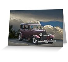 1932 Ford Tudor Sedan Greeting Card