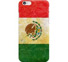 Mexico Flag in Grunge iPhone Case/Skin