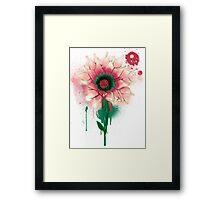 Splatter Flower Framed Print