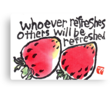 Be Refreshed (Strawberries) Canvas Print