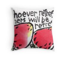 Be Refreshed (Strawberries) Throw Pillow