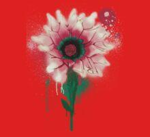 Splatter Flower One Piece - Short Sleeve