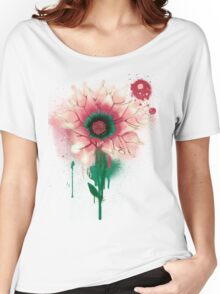 Splatter Flower Women's Relaxed Fit T-Shirt
