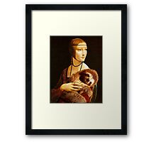 Lady with a Sloth Framed Print