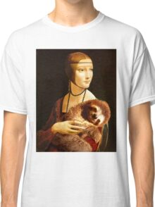 Lady with a Sloth Classic T-Shirt