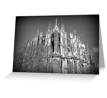 The many spires of Cologne Dome. Greeting Card