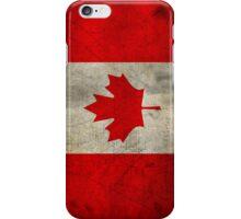 Canada Flag in Grunge iPhone Case/Skin