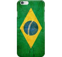 Brazil Flag in Grunge iPhone Case/Skin