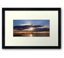 SUNRISE IN BOTANY BAY Framed Print