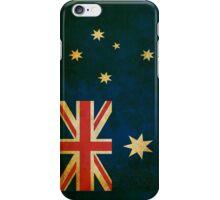 Australia Flag in Grunge iPhone Case/Skin
